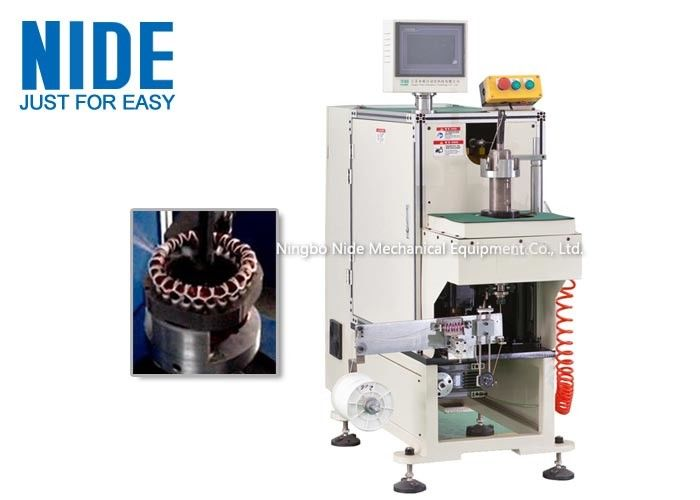 NIDE stator coil lacing machine with CNC control design and HIM program