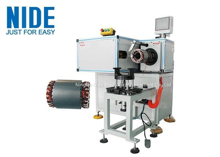 Horizontal structure automatic lacing machine for three phase motor stator end coil